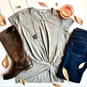 Anthropologie Twist-Front Tee S
